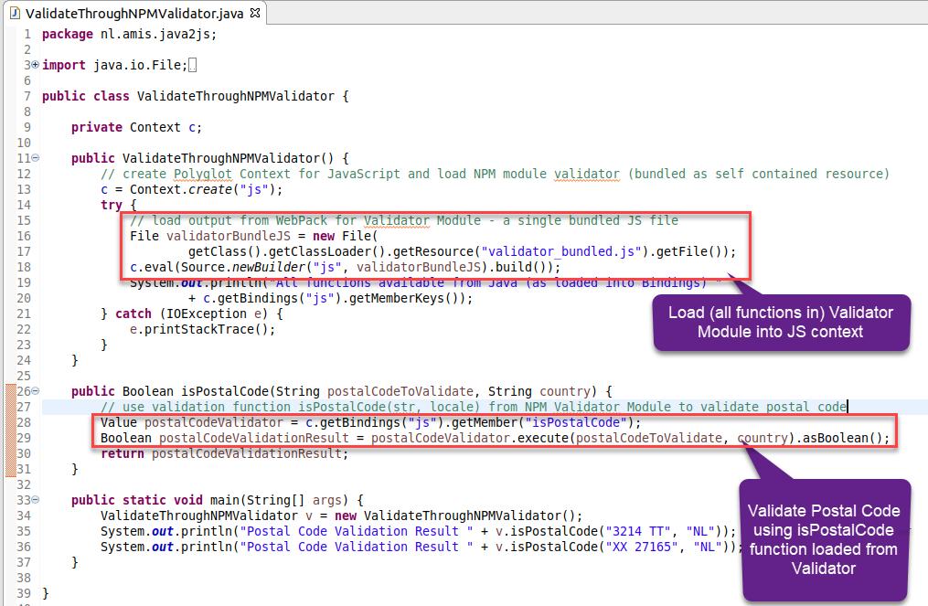 Leverage NPM JavaScript Module from Java application using