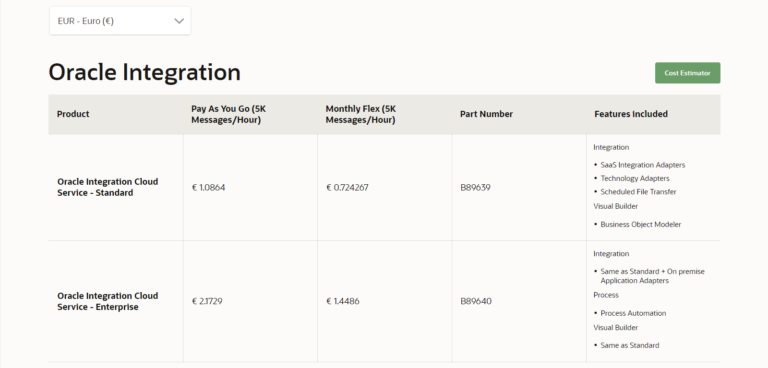 Oracle Integration Cloud pricing explained – OCI vs Classic