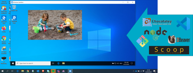Windows Sandbox with Chocolatey, Scoop, Git, VisualStudio Code and more