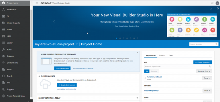 Get going with automated CI/CD on OCI in Visual Builder Studio