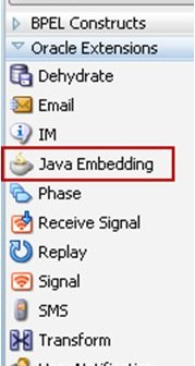 First steps with Java Embedding in Oracle SOA Suite 11g BPEL 2 0