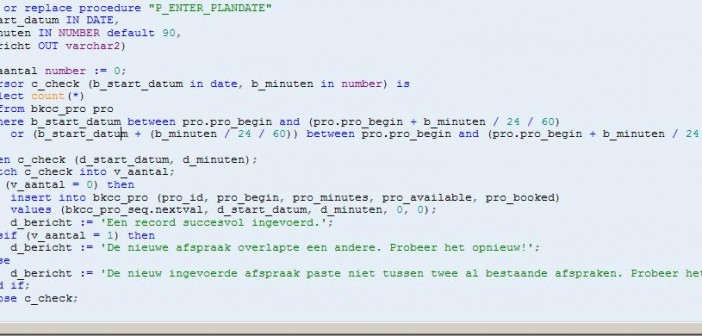 APEX: Creating a form based on a procedure - AMIS Oracle and