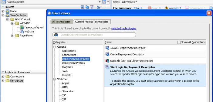 Fast Swap in WebLogic 10 3 (and JDeveloper 11g) - redeploy