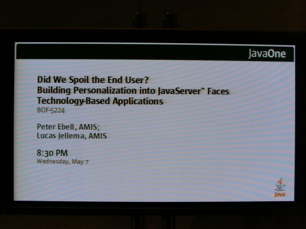 The announcement at JavaOne