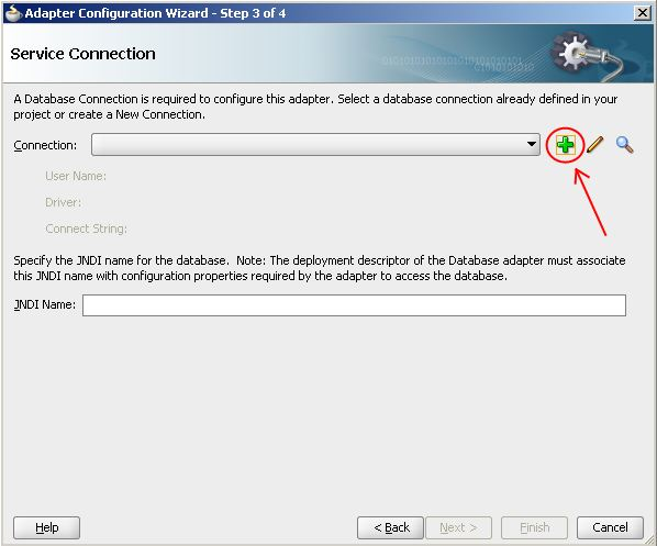Click Create Connection Button