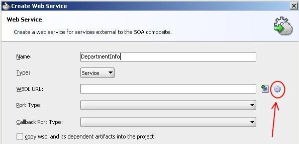 Generate WSDL Button
