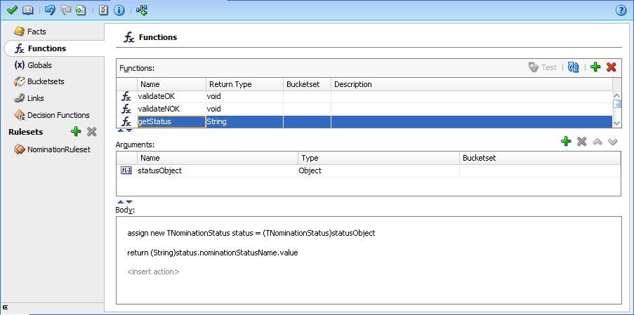 Custom function getStatus to retrieve child element value