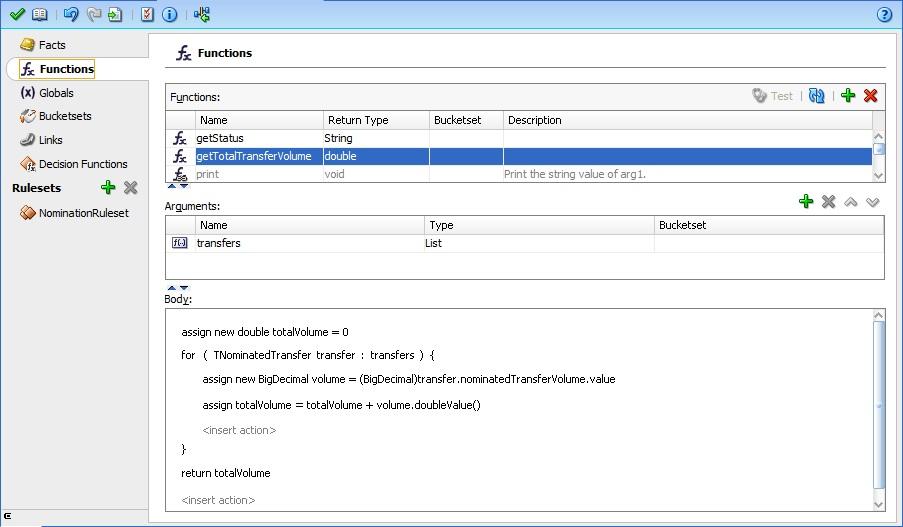 Custom function getTotalTransferVolume to calculate total transfer volume