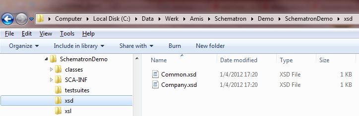 Copy xsd into project