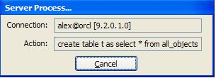 Server Process Pop-up