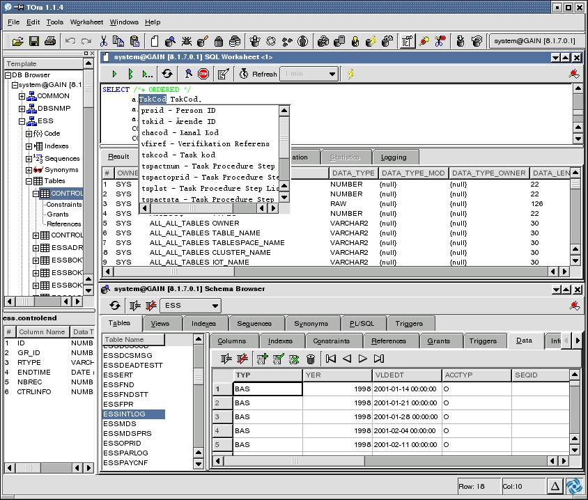 TOra Screenshot