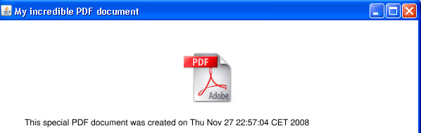 Java: Generating PDF and Previewing it as an Image - iText