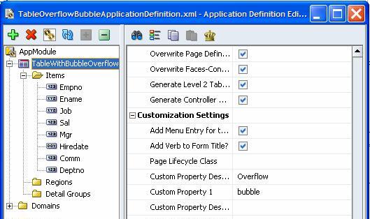 extending the jheadstart 10 1 3 application generator using custom