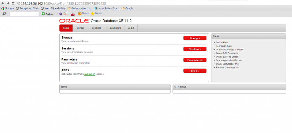 how to connect to oracle daysvm virtual box