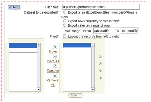 Exporting to Excel from any ADF Table - AMIS Oracle and Java Blog