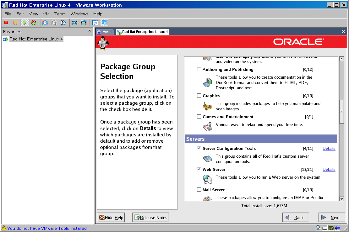 Installation of Oracle Enterprise Linux on VMWare - AMIS