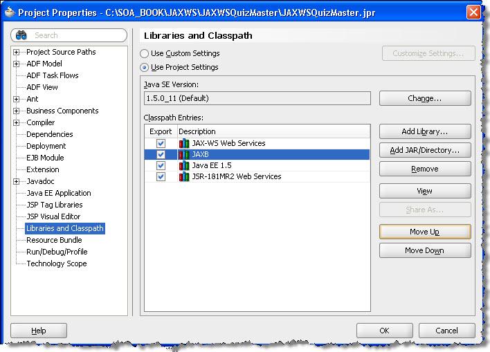 Publishing Java based WebServices using JAX-WS in JDeveloper