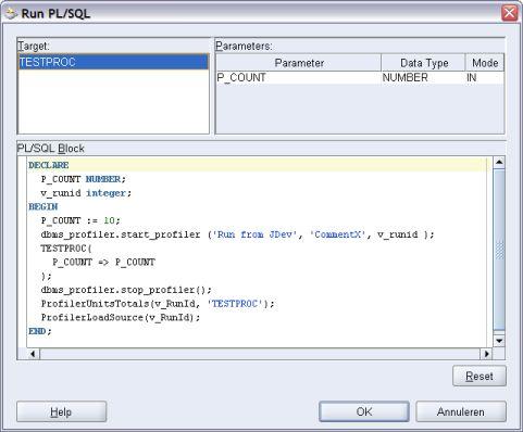 Add profiling code in JDeveloper