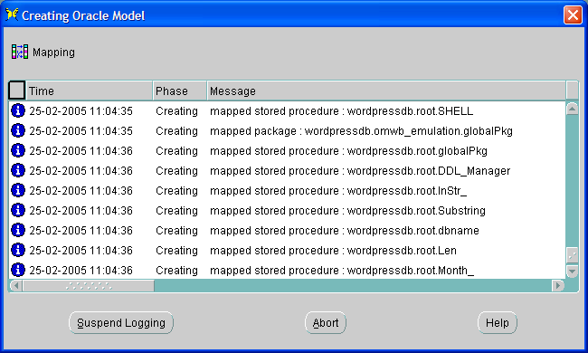 Migration from MySQL to Oracle - using Oracle Migration Workbench