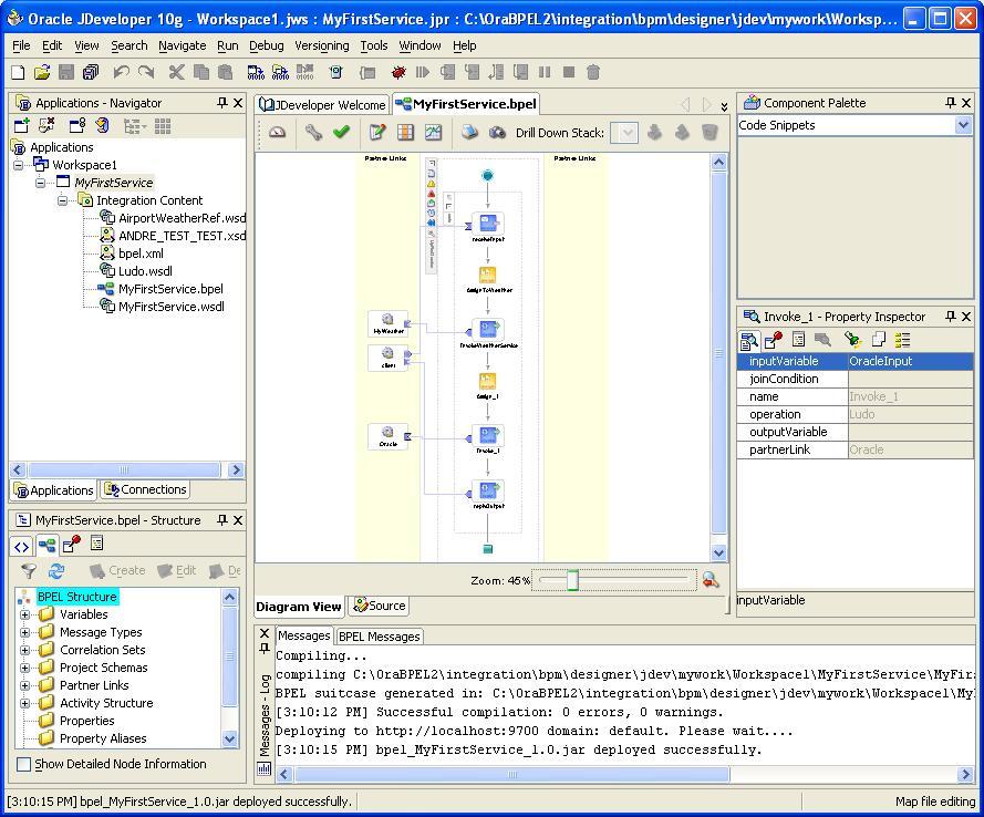 jDeveloper BPEL designer