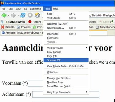 Selenium IDE - plugin for FireFox - easy black box web application