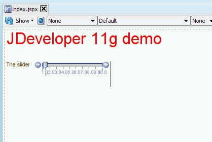 The slider component in JDeveloper
