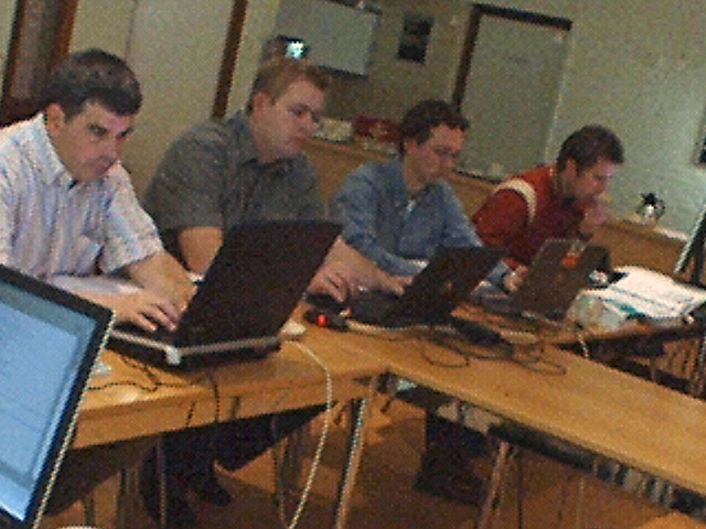 Hard at work on the Spring Workshop labs