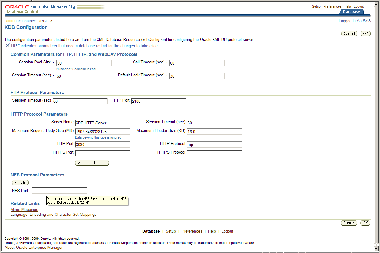Part of the Puzzle: Oracle XMLDB NFS Functionality - AMIS