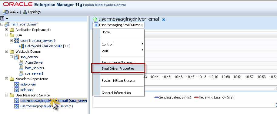 Configure SOA Suite 11g for sending email notifications with